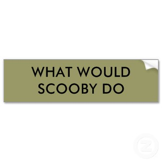Scooby Doo Bumper Sticker