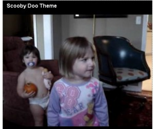 Little Girl Sings Scooby Song