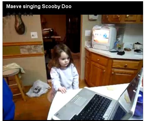Maeve singing Scooby Doo
