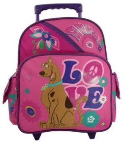 "Scooby Doo ""Peace & Love"" Rolling Backpack"