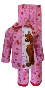 Scooby-Doo – Flannel Pink Ruffle Pajamas