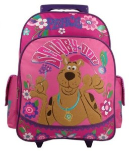 Scooby Doo Peace & Love Large Rolling Backpack