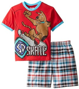 Scooby Doo and Plaid Short Set